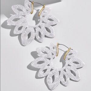 BaubleBar Rita Resin Earrings in White